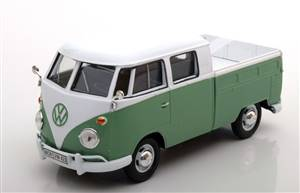 VW Bulli T1 Doka pick up lightgreen/white