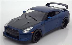 Nissan GT-R (R35) from the movie Fast & Furious 7 2009 bluemetallic Brian