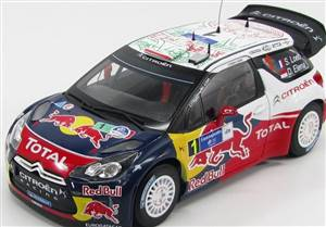CITROEN - DS3 WRC RED BULL N 1 WINNER RALLY MEXICO 2011 S.LOEB - D.ELENA