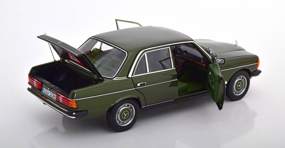1:18 norev mercedes 200 w123 Saloon 1980-1985 darkgreen-Metallic