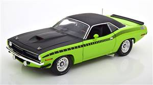 Plymouth Barracuda AAR Black Vinyl Roof 1970 green black Limited Edition 162 pcs